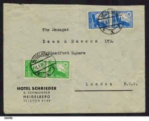 Germany 1937 Hotel Schrieder Airmail Cover to London