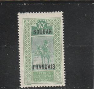 French Sudan  Scott#  25  MH  (1921 Overprint)