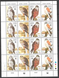 MALTA SG898/901 1991 BIRDS SHEETLET MNH