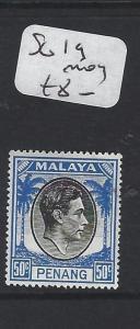 MALAYA  PENANG   (PP1605B)  KGVI 50C  SG  19   MOG