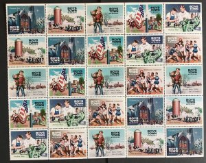 1961 Sheet of Boys Town charity stamps Full sheet of 25