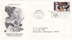 2004, Honoring Martha Graham, PCS, FDC (E12221)