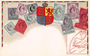 Gibraltar, Stamp Postcard, Published by Ottmar Zieher, Circa 1905-10, Unused