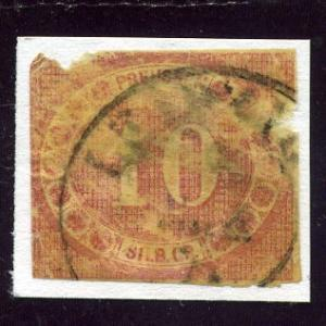 Prussia 1866 - Sc #21 - Michel #20 - Used