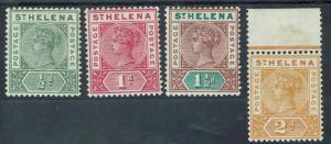 ST HELENA 1890 QV KEY TYPE 1/2D - 2D
