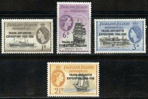 Falkland Island Dependencies Scott 1L34-1L37  MNHOG Complete Set - SCV $2.25