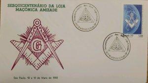 A) 1982, BRAZIL, FREEMASONRY, SESQUICENTENNIAL OF FRIENDSHIP MASONIC LODGE, ECT