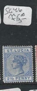 ST LUCIA  (P2705BB)  QV   2 1/2D  SG  46  MNH