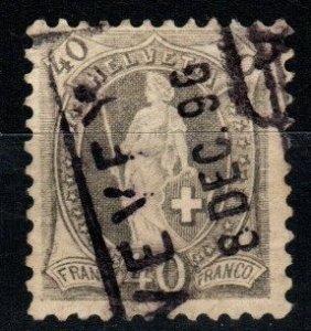 Switzerland #84a F-VF Used CV $7.75 (X1422)
