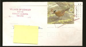 Canada Gray Crowned Rosy Finch 45Cent Pre-stamped #8 Envelope Used