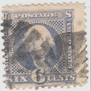 #115 - 1869 Washington Ultramarine 6 Cent stamp. SCV $225.00