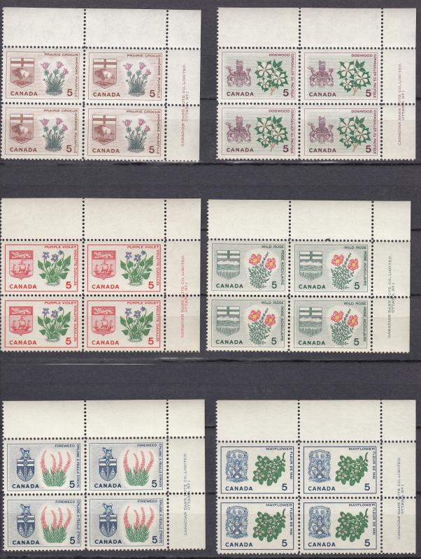 Canada - 1964 White Trillium and Arms of  Ontario Sc# 417 - MNH (144)