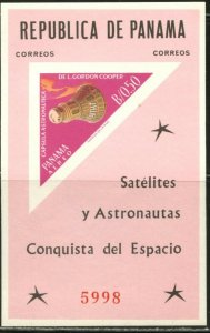 PANAMA Sc#453F 1964 Space Conquest US Astronauts Imperforate S/S Mint OG NH
