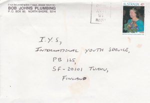 DB872) Solo use advertising cover to Finland. Birthday QEII 1990. Price $6