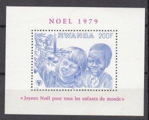 J27280 1979 rwanda s/s mnh #934 children