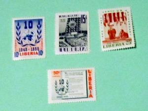 Liberia - C93-96, MNH Set. UN Charter. SCV - $2.60