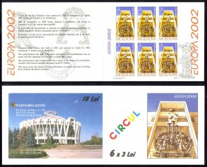Moldova Sc# 415a MNH Complete Booklet 2002 Europa