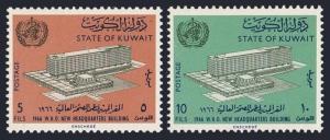 Kuwait 323-324,MNH.Michel 317-318. New WHO Headquarters,1963.Geneva.