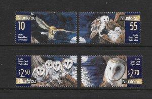 BIRDS - NIUAFO'OU (TONGA) #234-7  OWLS  MNH