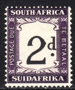 1932 - 1940 South Africa postage due 2 pence issue Sc# J24 MMH CV $15.00
