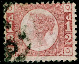 SG48, ½d rose-red PLATE 19, USED. Cat £55. QO