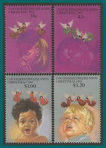 Cocos 1991 Christmas, MNH 244-247,SG247-SG250