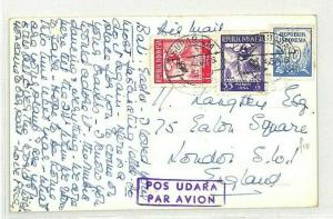 INDONESIA Surabaya *Bali Postcard* GB London 1954 {samwells-covers} CG147