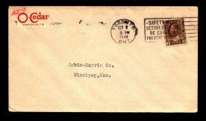 Canada 1920 O'Cedar Products Red Corner Card Cover - L12227