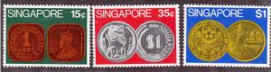 Singapore # 150-152, mint, lightly hinged