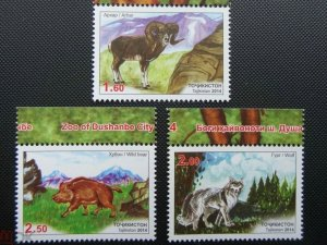 Tajikistan 2014  animals boar arhar wolf set MNH