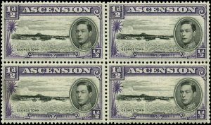 Ascension Scott #40a Block of 4 Mint Never Hinged  Perf 13 1/2
