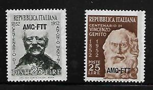 ITALY TRIESTE 160-161 MNH 1952 ISSUE