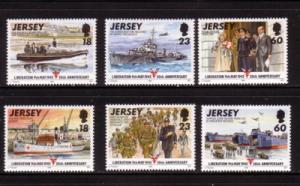 Jersey Sc 710-15 1995 Liberation 50 yrs stamps mint NH
