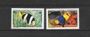FISH - NEW CALEDONIA #C193-4  MNH