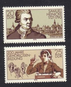 Germany  DDR  1978 MNH deaf and dumb institution complete