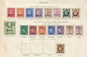 BMA SOMALIA / E.A.F GEORGE 6TH CROWN ALBUM  PAGE  , MINT