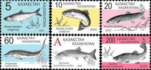 Kazakhstan 2020 MNH Stamps Fishes Fish