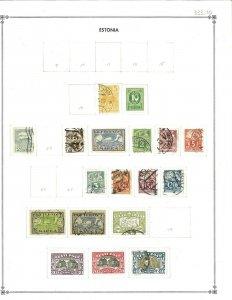 Estonia 1919-1939 M & U Hinged on Scott International Blank Pages.