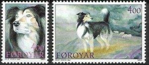 Faroe Islands MNH 266-7 Faroese Sheepdog Fauna 1994