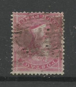 1855/7 Sg 62Awi, 4d Carmine, paper slightly Blued, inverted Watermark, Rare.