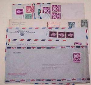 CURACAO 9 COVERS 1938-1950 MOSTLY TO USA INCLUDES REGISTERED