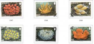 Jersey Sc 1498-03 2011  Sea Squirts Sponges stamp set used
