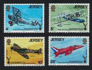 Jersey MNH 133-6 Military Airplanes 1975