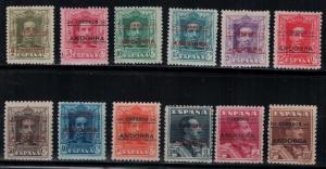 Andorra, Spanish 1928 SC 1-12 H,LH CV $513.90