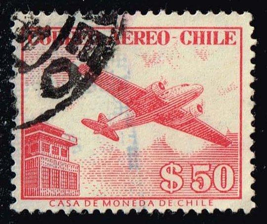 Chile #C177 Douglas DC-2 and Control Tower; Used (0.25)