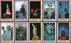 St. Vincent MNH 980-980I Statue Of Liberty 1986 SCV. 8.10