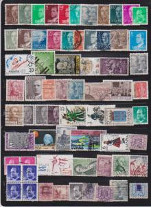 LOT OF DIFFERENT STAMPS OF SPAIN USED (67) LOT#150