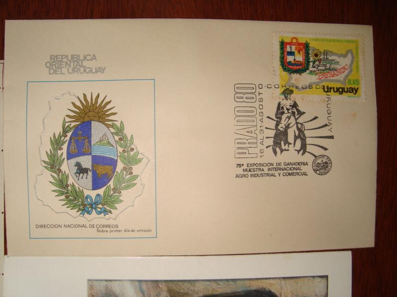 HORSE UNUSUAL ITEMS MILITARY GAUCHO MNH Uruguay stamps covers FDC sheet