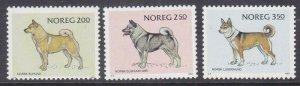 Norway 816-18 MNH 1983 Farm Dog Elk Hound & Hunting Dog Full Set of 3 VF