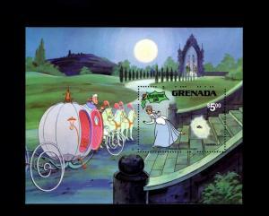 GRENADA - 1981 - DISNEY - CINDERELLA - HORSES - COACH - MINT - MNH S/SHEET!